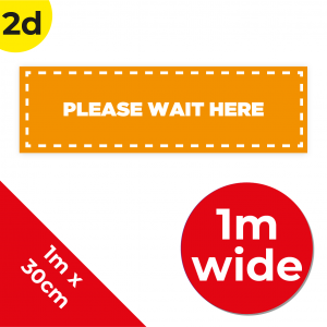 2D 1m Floor Graphic Social Distance Sign ORANGE with White Text 100 x 30cm Coronavirus (COVID-19)