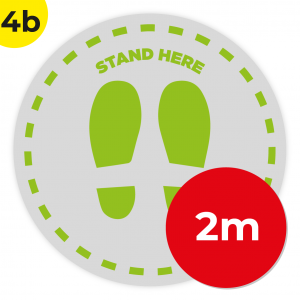 4B 2m Circle Floor Graphic Social Distance Sign GREEN 200cm Coronavirus (COVID-19)
