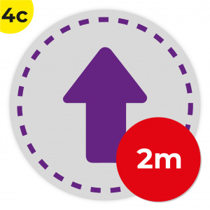 4C 2m Circle Floor Graphic Social Distance Sign PURPLE 200cm Coronavirus (COVID-19)