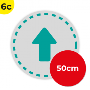 6C 50cm Circle Floor Graphic Social Distance Sign TEAL 50cm Coronavirus (COVID-19)