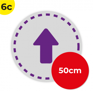 6C 50cm Circle Floor Graphic Social Distance Sign PURPLE 50cm Coronavirus (COVID-19)