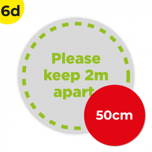 6D 50cm Circle Floor Graphic Social Distance Sign GREEN 50cm Coronavirus (COVID-19)