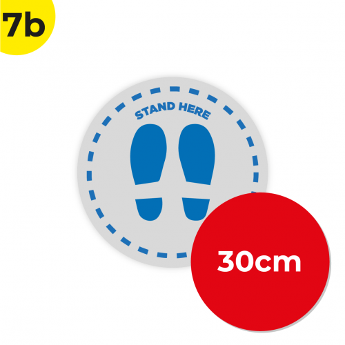 7B 30cm Circle Floor Graphic Social Distance Sign DARK BLUE 30cm Coronavirus (COVID-19)