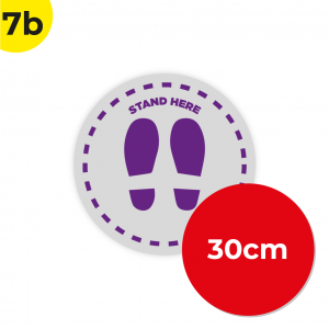 7B 30cm Circle Floor Graphic Social Distance Sign PURPLE 30cm Coronavirus (COVID-19)