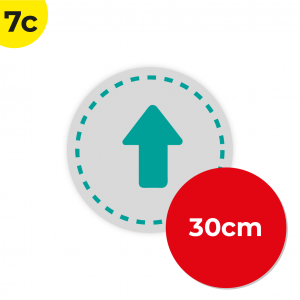 7C 30cm Circle Floor Graphic Social Distance Sign TEAL 30cm Coronavirus (COVID-19)