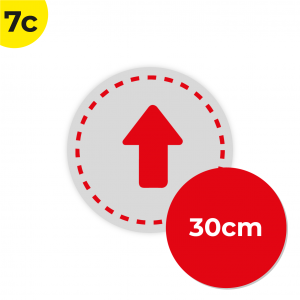 7C 30cm Circle Floor Graphic Social Distance Sign RED 30cm Coronavirus (COVID-19)