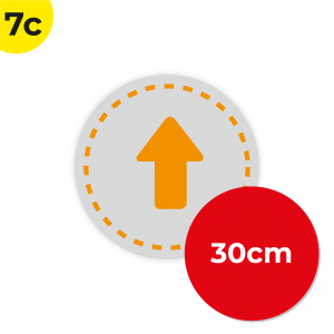 7C 30cm Circle Floor Graphic Social Distance Sign ORANGE 30cm Coronavirus (COVID-19)