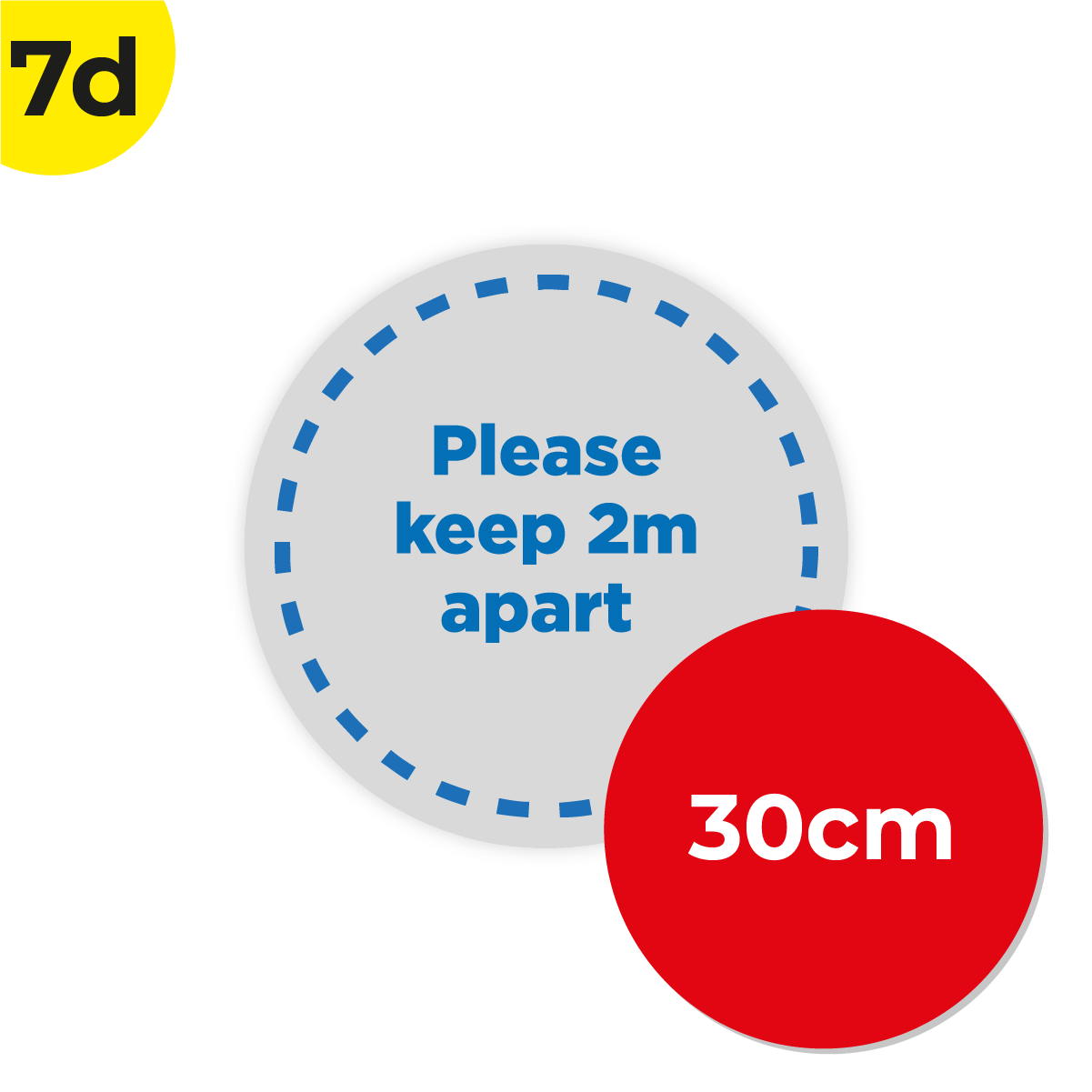 7D 30cm Circle Floor Graphic Social Distance Sign DARK BLUE 30cm Coronavirus (COVID-19)