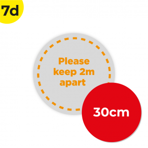 7D 30cm Circle Floor Graphic Social Distance Sign ORANGE 30cm Coronavirus (COVID-19)