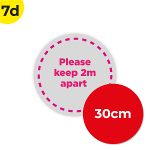 7D 30cm Circle Floor Graphic Social Distance Sign PINK 30cm Coronavirus (COVID-19)