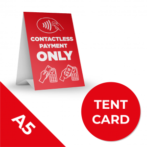 8A A5 TENT CARS Social Distance Sign RED A5 Coronavirus (COVID-19)
