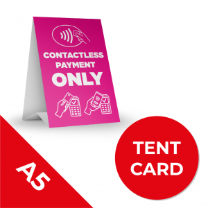 8A A5 TENT CARS Social Distance Sign PINK A5 Coronavirus (COVID-19)