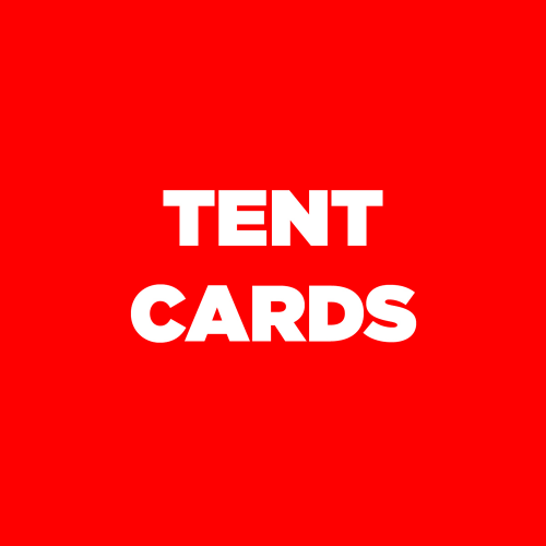 A5 TENT CARDS
